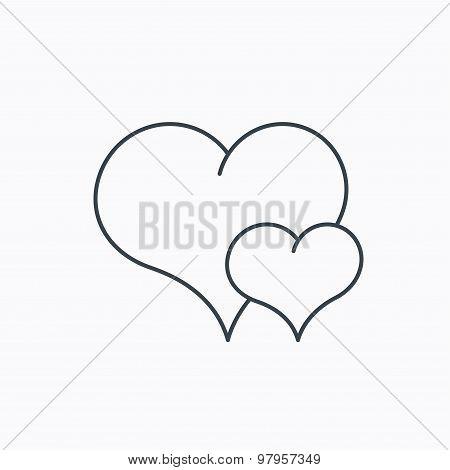 Love heart icon. Couple romantic sign.