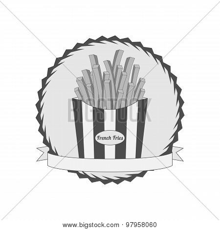 Graphic Label with French Fries
