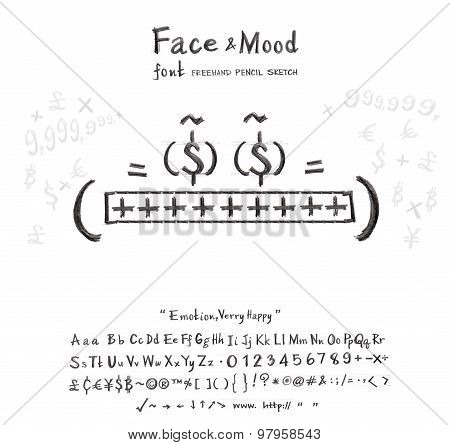 Face Mood Very Happy Font