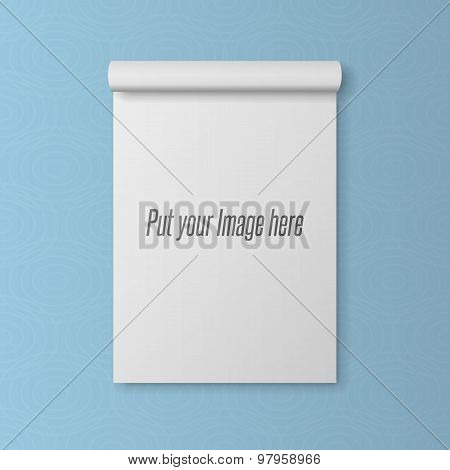 Realistic blank Template of open Notepad