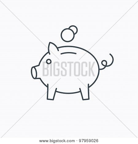 Piggy bank icon. Money economy sign.