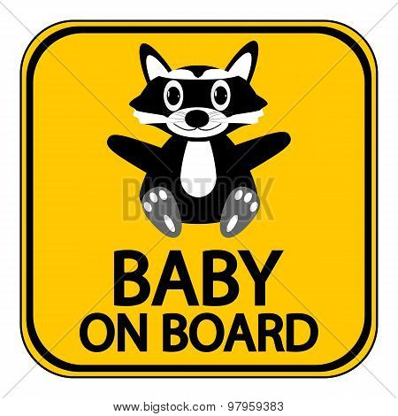 Baby On Board Sign.
