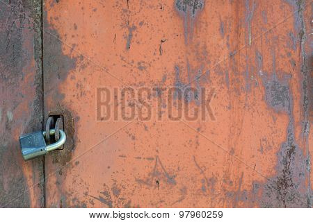 old grunge rusty zinc wall for textured background