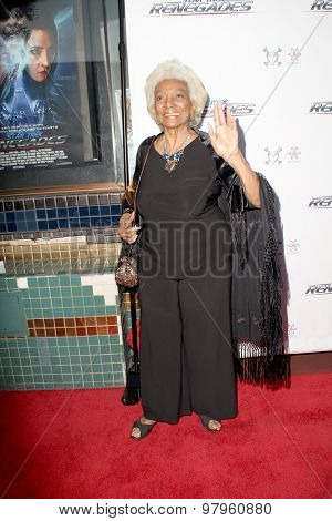 LOS ANGELES, CA - AUGUST 1: Nichelle Nichols arrives at the premiere of Star Trek: Renegades at the Crest Theatre on August 1, 2015 in Los Angeles, CA.