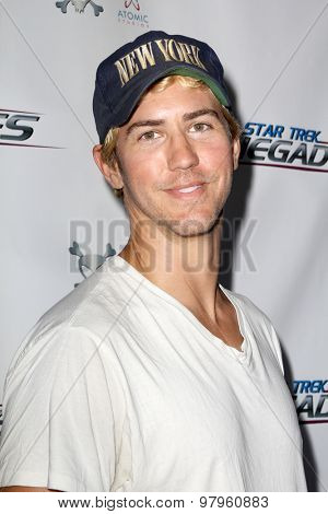 LOS ANGELES, CA - AUGUST 1: Vic Mignogna arrives at the premiere of Star Trek: Renegades at the Crest Theatre on August 1, 2015 in Los Angeles, CA.