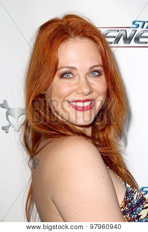 LOS ANGELES, CA - AUGUST 1: Maitlin Ward arrives at the premiere of Star Trek: Renegades at the Crest Theatre on August 1, 2015 in Los Angeles, CA.