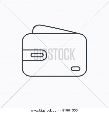 Wallet icon. Cash money bag sign.