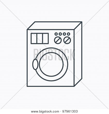 Washing machine icon. Washer sign.