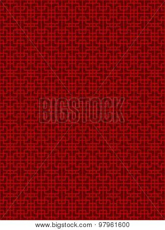 Seamless Chinese window tracery lattice geometry square line pattern background.