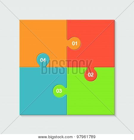 Vector modern colorful puzzle infographic