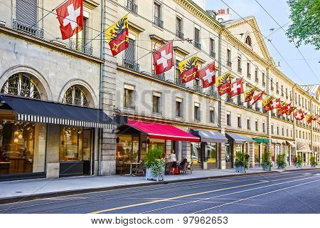 Geneva Street View In Summer