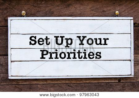 Inspirational Message - Set Up Your Priorities