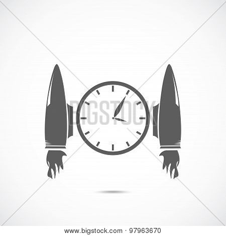 Clock with jet engines