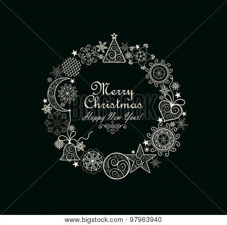 Christmas decorative wreath
