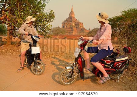 Couple In Bagan Myanmar
