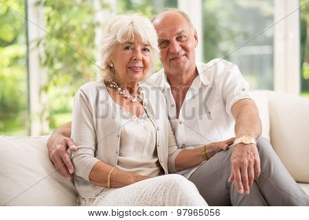 Amorous Senior Couple