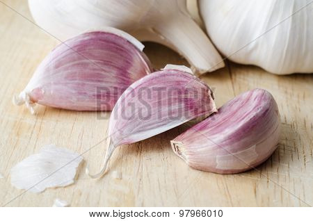Garlic Cloves And Bulbs Close Up
