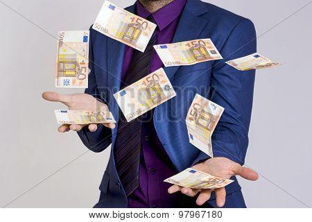 Businessman money