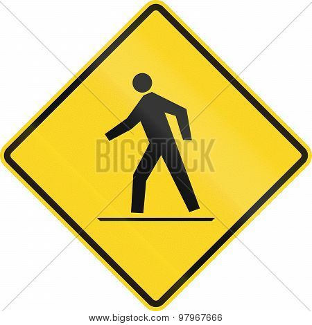 Pedestrian Crossing In Canada