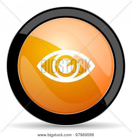 eye orange icon view sign