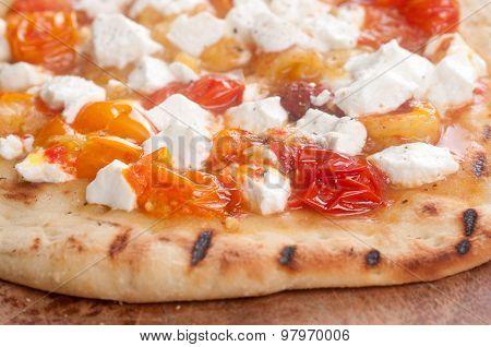 Bruschetta On Pizza Bread