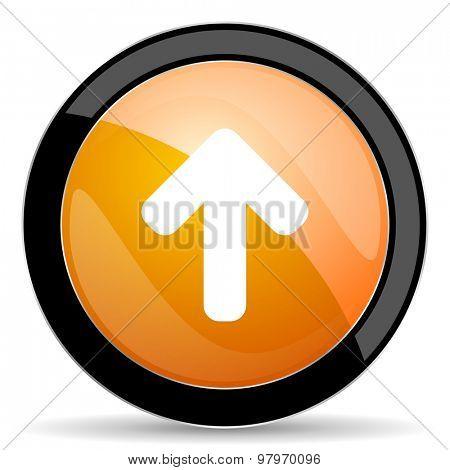up arrow orange icon arrow sign