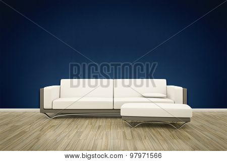 3D rendering of a sofa interior background