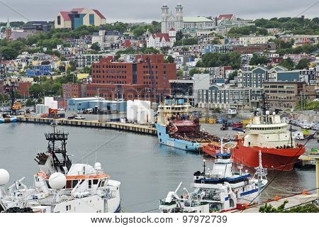 Harbor And City View Of St Johns
