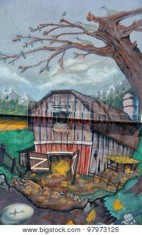 Street art farm