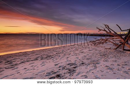 Sunset At Silver Beach Botany Bay Sydney