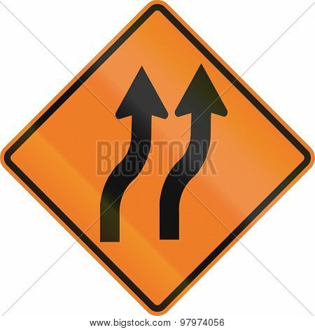 Two Lane Reverse Curve In Canada