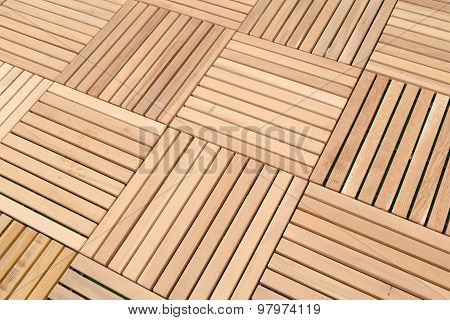 Wood Deck Panel Floor Background