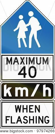 Maximum 40 Kmh When Flashing - Old Version In Canada