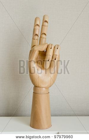 Hand Sign Fighting Or Number Two Isolated On White Background