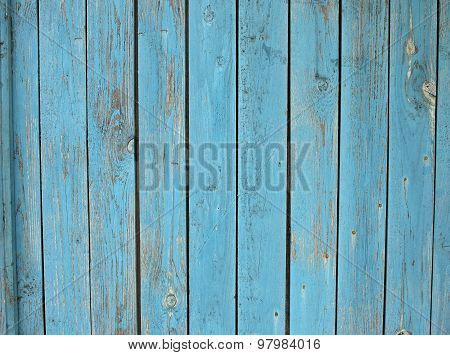Old Wooden Planks Standing Upright