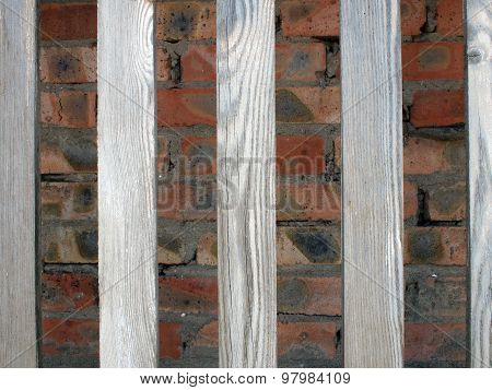 Gray Unpainted Wooden Planks With Natural Texture