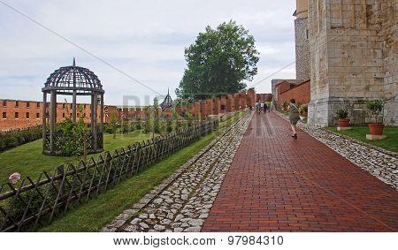 Krakow, Poland - August 1, 2015: Renaissance Garden At The Wawel