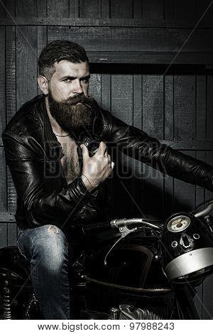 Brutal Male Biker