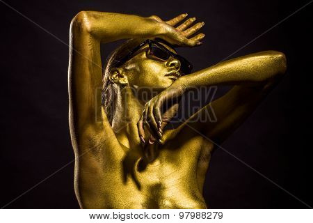 Fashionable Golden Female Body