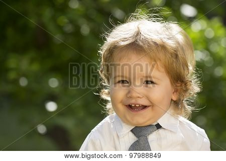 Smiling Child In Shirt