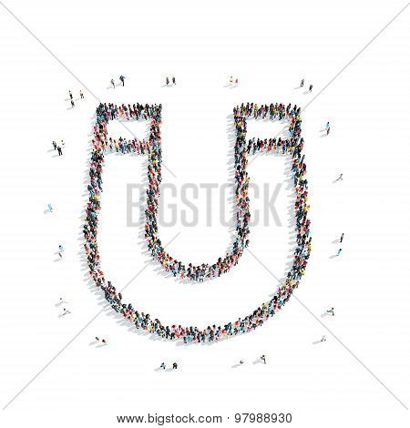 group  people  shape  magnet