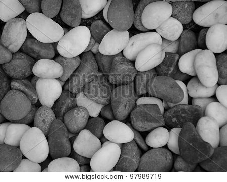 Gravel stone black and white