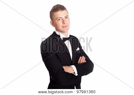 Young Elegant Man In Tuxedo
