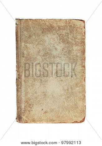 Old Vintage Textured Cover Of Book On A White Background