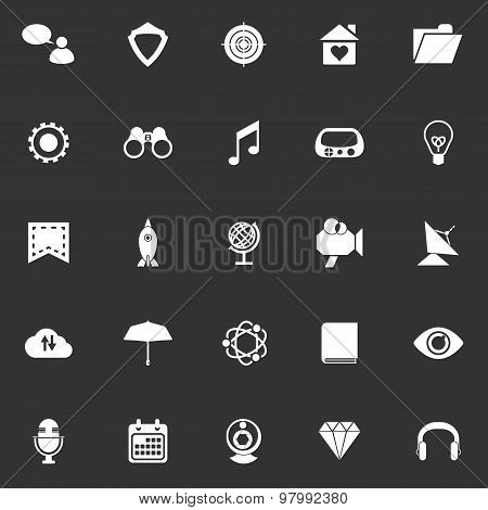 Seo Icons On Gray Background