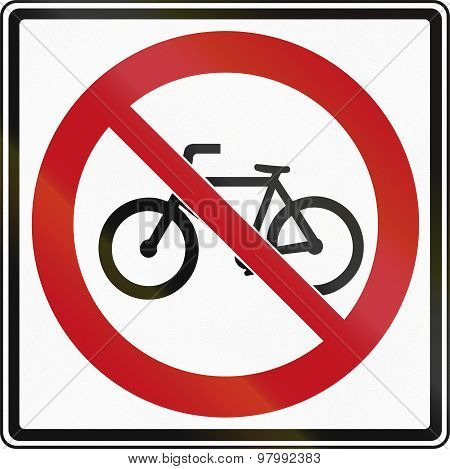 No Bicycles In Canada