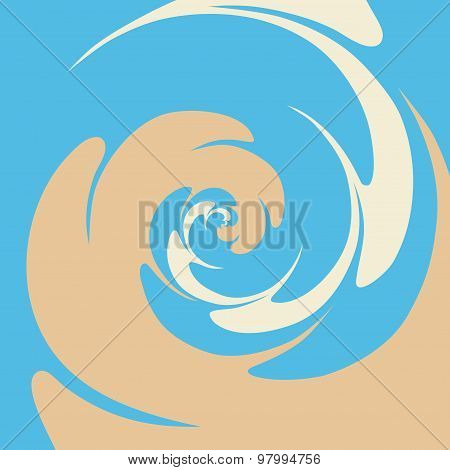 Abstract Twisted Background In Blue And Brown