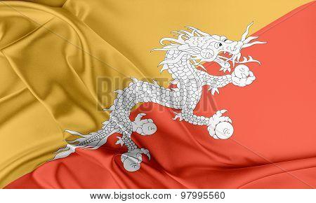 Bhutan Flag.