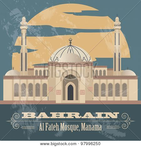 Bahrain  infographics, statistical data, sights. Vector