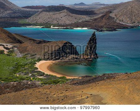 Pinnacle Rock, Bartolome Island, Galapagos Archipelago